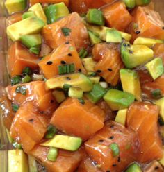 This has basically become my go-to on Tuesdays.  I get the sashimi grade salmon at whole foods.  They are usually out on Mondays, and the fresh stuff shows up on Tuesdays.  I usually only buy if th...