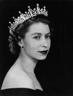 Her Majesty Queen Elizabeth II wearing the Girls of Great Britain and Ireland tiara. Photograph by Dorothy Wilding My favorite tiara of all! Royal Tiaras, Royal Jewels, Crown Jewels, Lady Diana, Isabel Ii, Her Majesty The Queen, English Royalty, Queen Of England, Glamour
