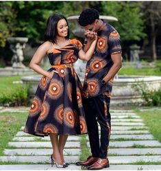Couples African Outfits, Couple Outfits, African Attire, African Dress, Xhosa Attire, African Print Clothing, African Print Fashion, African Fashion Dresses, African Traditional Wear