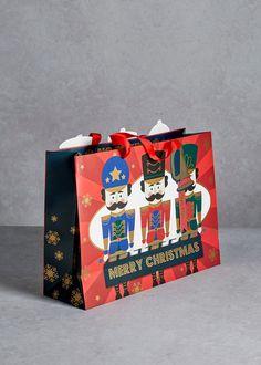 Nutcracker Christmas Gift Bag x x Thoughtful Christmas Gifts, Christmas Gift Bags, Christmas Shopping, Merry Christmas, Shops, Nutcracker Christmas, Festival Fashion, Festive, Inspiration