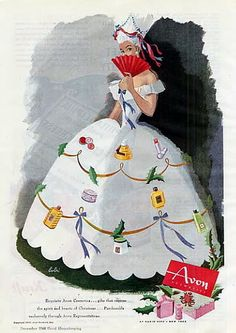 Vintage Avon Christmas Ads ~ 1944-1971