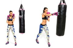 Learn How to Punch the Heavy Bag: Do it! The weighted bag is the secret to knockout arms. Boxing instructor Reggie Chambers explains how to throw a cross: Stand, Pivot, then SNAP.  #SelfMagazine