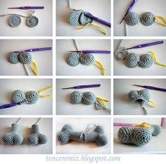 Visual crochet dog bone