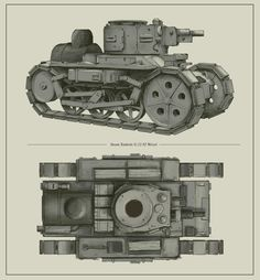 The workhorse of the Grande Armée, the vehicle was originally conceived as a carrier capable of towing supplies and ammunitions across the frontline. An order to start the development for an armoured fighting vehicle by the Imperial Gotha Committee Ww1 Tanks, Valkyria Chronicles, Bug Out Vehicle, Armored Fighting Vehicle, Retro Futurism, Armored Vehicles, Dieselpunk, Surreal Art, Dope Art