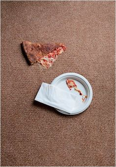 As much as we love pizza, those grease stains… not so much. Use dry cleaning fluid to clean grease stains on carpet! Don't apply dry cleaning fluid directly to the carpet. Instead, apply it to a cloth and work from the outside of the stain toward the center.