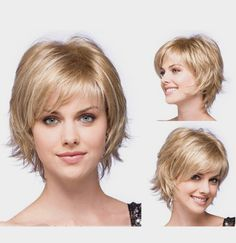 New Arrival  Woman's Fashion short blonde straight hair HEAT - RESISTANT FIBER Quality Assurance  fast Shipping