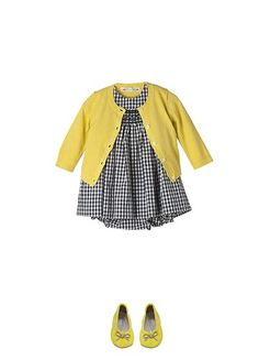 Black, White and Yellow - super chic for baby!