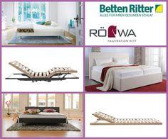 RöWa - hochwerige Matratzen, Betten und Bettgestelle Die Marke RöWa stellt Matratzen, Betten und Bettgestelle her. Die Produkte beruhen auf hochwertigem Material, sowie technischer und handwerklicher Perfektion. Die Bettsysteme von Röwa bestehen aus Lattenrost und Matratze, die aufeinander abgestimmt sind und sich individuell dem Körper anpassen.
