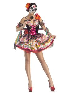 Day-Of-The-Dead-Mexican-Holiday-Adult-Womens-Halloween-Costume