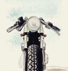 Honda CB400f #caferacer #illustration discover #motomood
