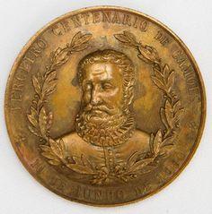 Numismática - Brasil - Medalha - 1880 - Gabinete Português de leitura n Rio de Janeiro - Reverso 3º