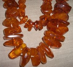 Huge Baltic Amber Nugget Necklace