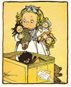 MY DOLLY & ME~Grace Wiedersheim postcard | eBay