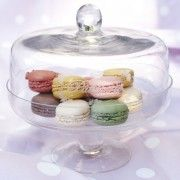 """""""Patisserie"""" Small Glass Cake Stand with Cover"""