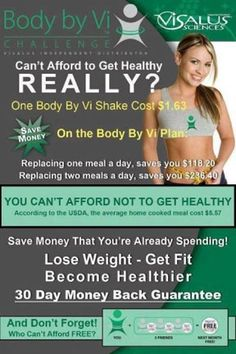 Join the all new Body By Vi 90 day challenge today, it's truly amazing....learn more @ www.yourbodyrocks.myvi.net