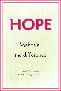 Hope | Toni Umbarger | Thoughtseeds on flutterings