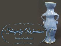Blue Female Candlestick