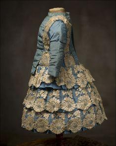 antique doll dress | Antique French ORIGINAL Dress fit Jumeau Bru Bebe Doll