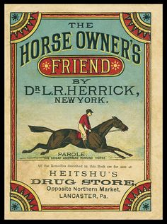 Horse Owners Friend Booklet Cover