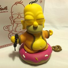"kidrobot The Simpsons Homer Buddah 6"" Rare Color Version in Fortune Cookie Box #kidrobot"