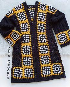 Crochet Baby Sweaters, Crochet Coat, Crochet Winter, Knitted Coat, Cotton Crochet, Crochet Cardigan, Love Crochet, Crochet Clothes, Crochet Lace