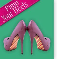 Liquid Heels Pimp your heels - streepjes design.    Verkrijgbaar op Www.LiquidHeels.nl