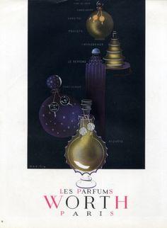 Worth (Perfumes) 1947 Sibia