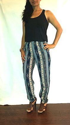Tribal Print Harem Style Loose Fitting Pants (Medium), http://www.amazon.com/dp/B00L76Y7X2/ref=cm_sw_r_pi_awdm_w1rQtb0GSZ1S3