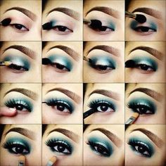 Makeup Tips for Deep Set Eyes, Best Make Up For Girls Blue Eyes, Apply to Eyeshadow for blue Eyes, eyes makeup tips in multiple style, Blue eyes shadow makeup