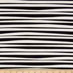Monkey's Bizness Stockade Stripe Black/White  Item Number: 201480  OUR PRICE: $8.98 PER YD