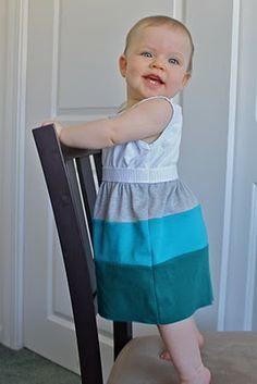 Super cute color block dress tutorial.
