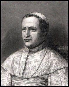 Papa Pío IX, (grabado de 1896)