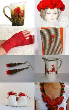 Perfect start with RED by Inese on Etsy--Pinned with TreasuryPin.com