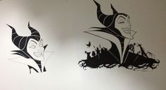 Maleficent Disney art I did for clothing etc.