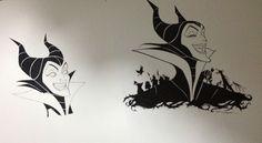 Maleficent Disney art I did for clothing etc.