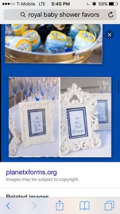 Pictures/table decorations