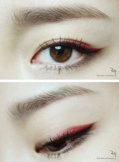 trendy eye makeup blue pink make up Eye Makeup Blue, Asian Eye Makeup, Makeup Eyeshadow, Red Eyeliner, Monolid Eyeliner, Korean Eyeshadow, Korean Eyeliner, Eyeliner Pencil, Eyebrow Makeup