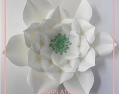 You know you can do beautiful things with your hands and you have made many Diy, but now you want to make paper flowers ... maybe have a party, a wedding or a baby shower, this is the perfect occasion to have a curtain of Background or maybe a whole wall with them.  This document can be the center of a rose or a small rose if you wish. It is one of my favorite roses, because it is nothing more than beautiful.  Details: * The article to buy a digital version, not a physical flower * File for…