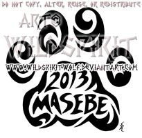 Masebe Tribal Lion Paw Print Design by WildSpiritWolf
