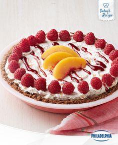 A No-Bake Peach Melba Pie truly is a humble pie.