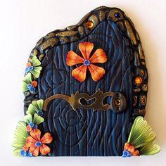 beautiful blue fairy door