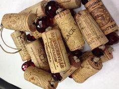 Upcycled Wine Cork Christmas Tree Garland by theperidotwindow