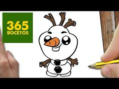 COMO DIBUJAR OLAF KAWAII PASO A PASO - Dibujos kawaii faciles - How to draw a Olaf - YouTube