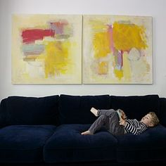I could make a painting like that one, but I'd still need the super comfy sofa to admire it!!