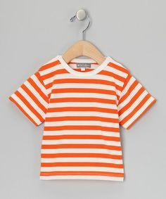 This Orange & White Stripe Tee - Infant is perfect! #zulilyfinds