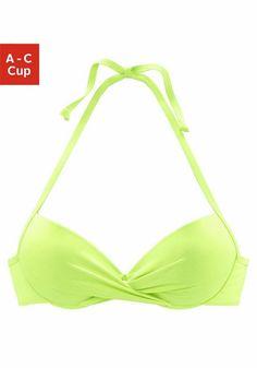 s.Oliver RED LABEL Beachwear Push-up-Top »Spain« ab 34,99€. Wattierte Cups mit eingearbeiteter Verstärkung, Im Nacken zu binden bei OTTO