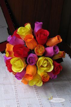 bridal bouquet {wooden roses}