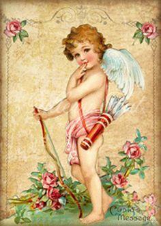 San Valentín victoriano Collage Digital hoja descarga