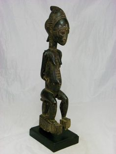 Auctions end in 5 hours A Fine,African Art, Baule, Maternity figure,Antique, w/Base No Reserve!