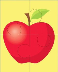 Preschool Apple Theme, Apple Activities, Montessori Activities, Learning Activities, Preschool Activities, Teaching Kids, Kids Learning, Puzzles For Toddlers, Kindergarten Worksheets